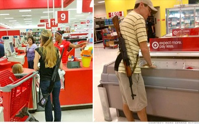 As we all know, a trip to target is a dangerous, life-risking task. Maybe they've watched too much The Walking Dead or something.
